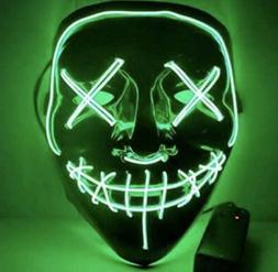 LED Glow Mask EL Wire Light Up The Purge Movie for Rave Danc