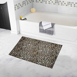 InterestPrint Leopard Print Non Slip Bathroom Mat Bath Rug,