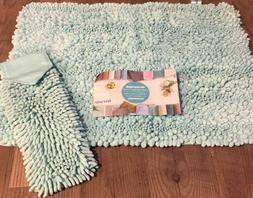 NORWEX LIMITED EDITION SEAMIST CHENILLE BATH FLOOR MAT & HAN