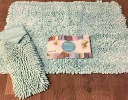 NORWEX~LIMITED EDITION~SEAMIST CHENILLE BATH MAT & HAND TOWE