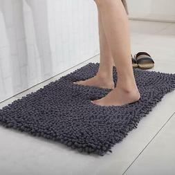Long Microfiber Shaggy Non Slip Absorbent Bath Mat Bathroom