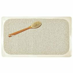 mDesign Loofah Cushioned Suction Bath Mat for Shower Stall,