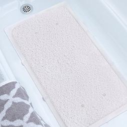 MAYSHINE Loofah Shower,Bath and Tub Mat,14 Big Suction Cups