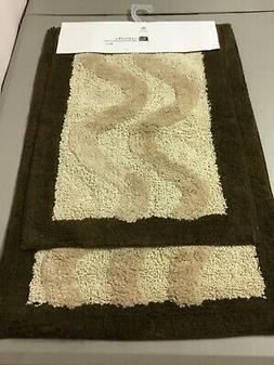 Chesapeake Merchandising Luxury 2 pc. Bath Mat Rug Set Choco