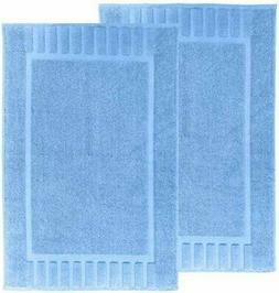 Luxury Bath Mat Floor Towel Set - 100% Cotton 22x34, 2 pack,