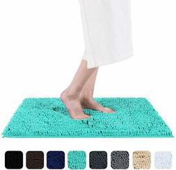 Smiry Luxury Chenille Bath Rug, Extra Soft and Absorbent Sha