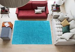 """Ottomanson Luxury Collection Rug, 3'3"""" x 5', Turquoise"""