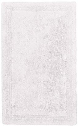 Pinzon Luxury Reversible Cotton Bath Mat - 30 x 50 inch, Whi