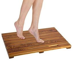 Luxury Spa Solid Teak Bath Mat Indoor Outdoor Large Shower F