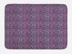 "Mandala Bath Mat Bathroom Decor Plush Non-Slip Mat 29.5"" X 1"