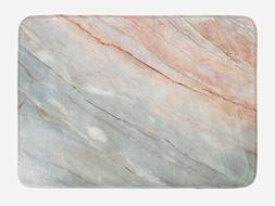Ambesonne Marble Bath Mat, Onyx Stone Textured Natural Featu