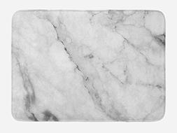 Ambesonne Marble Bath Mat, Granite Surface Motif with Sketch