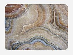 Ambesonne Marble Bath Mat, Surreal Onyx Stone Surface Patter