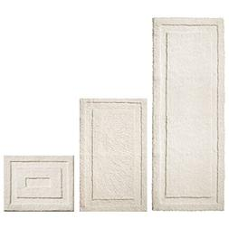 mDesign Soft Microfiber Polyester Spa Rugs for Bathroom Vani