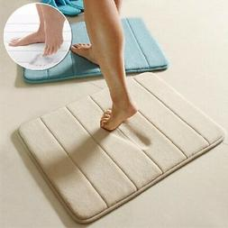 Memory Foam Bath Bathroom Bedroom Floor Shower Mat Rug Non-s