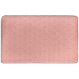 Memory Foam Bath Mat,Peach,Soft Colored Background with Crow