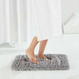 Genteele Non-Slip Memory Foam Shaggy Bathroom Mat, Water Abs