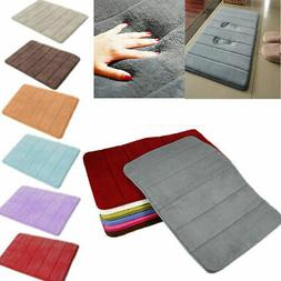 Memory Foam Bath Mats Bedroom Floor Shower Mat Non-slip Abso
