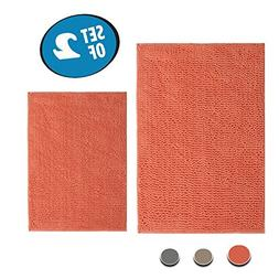 Hisy Microfiber Bath Tub Mats Set Of 2 To Prevent Slipping -