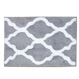 Pauwer Microfiber Bathroom Rugs Geometric, Non Slip Bath Rug