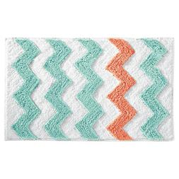 InterDesign Microfiber Chevron Bathroom Shower Accent Rug -