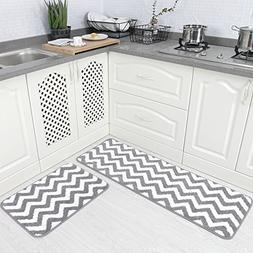 Carvapet 2 Pieces Microfiber Chevron Non-Slip Soft Kitchen M