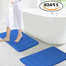 17 inch by 24 inch Microfiber Memory Foam Bath Mat with Anti