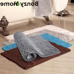 Microfiber Rug Thick Absorbent Soft Bath Mat Anti-Slip Rugs