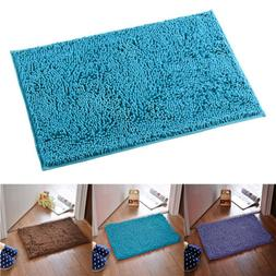 Microfiber Shaggy Carpet Non Slip Absorbent Bath Mat Bathroo