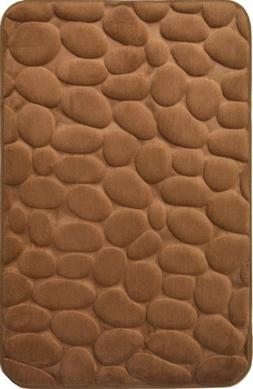 "Mocha Brown Memory Foam Bath Mat Set : 20"" X 30"", Non Skid"