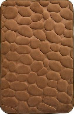 "Mocha Brown Memory Foam Bathroom Mat : 20"" x 30:, Rocks Desi"