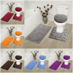 ROCK DESIGN 3PC BATHROOM SET SOFT COMFORT MEMORY FOAM BATH R
