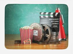 Movie Theater Bath Mat Production Theme Non-Slip Plush Mat,