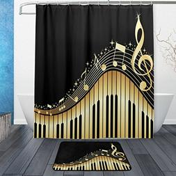 ALAZA Music Note with Piano Waterproof Polyester Fabric Show