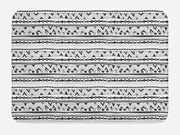 Ambesonne Native American Bath Mat by, Primitive Ancient Azt