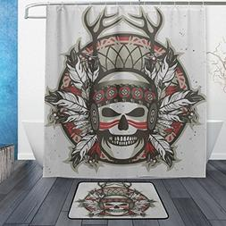 Franzibla Native American Indian Art Prints Shower Curtains