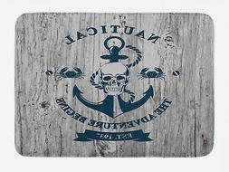 nautical bath mat anchor skull rope sea