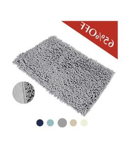 NEW microfiber CHENILLE bath Mat Bath Rug Bathroom Shower Gr