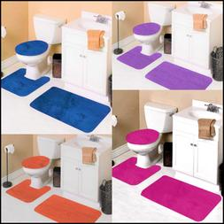 NEW STYLE MIX MATCH COLORS BATHROOM SET BATH RUG CONTOUR MAT