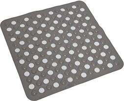 "EVIDECO Non-Skid Square Shower Mat with Holes 20""x20"", Solid"