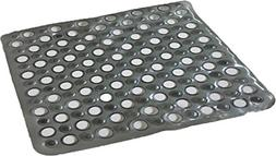 "EVIDECO Non-Skid Square Shower Mat with Holes 20""x20"" Solid"