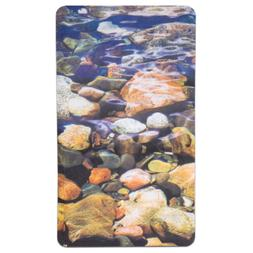 "Non Slip Bath Tub Mat 16""x27"" Brook Fabric Polyester PVC Pri"