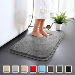 Carvapet High Water Absorbent Bathroom Rug Non-Slip Bath Mat