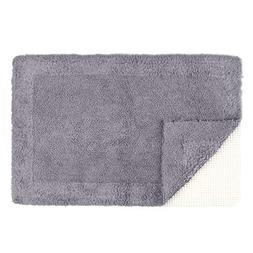 Tomoro Non-Slip Bathroom Rug Super Absorbent Soft Cotton - L