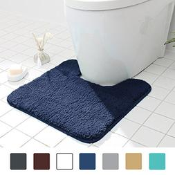 MAYSHINE Non Slip Contour Bath mats for Toilet | Soft Shaggy