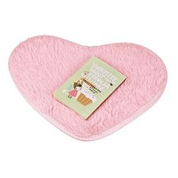 Sothread 40x28cm Non-slip Heart-shaped Bath carpet Mats Kitc