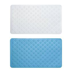 Sabichi Non Slip Rubber Bath Mat 40 x 70cm in White OR Aqua
