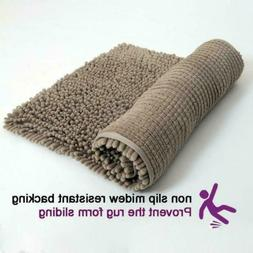 Non Slip Shaggy Chenille Soft Microfibers Bath Mat for Bathr