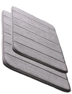 Adasmile Non Slip Stripe Type Thin Bath/Bathroom Mats and Ru