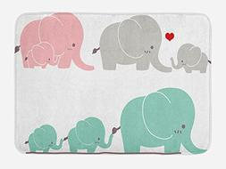 Ambesonne Nursery Bath Mat by, Family Love Theme Cute Sweet